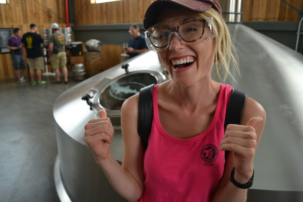 Mel really enjoyed the tour at Dogfish Head.