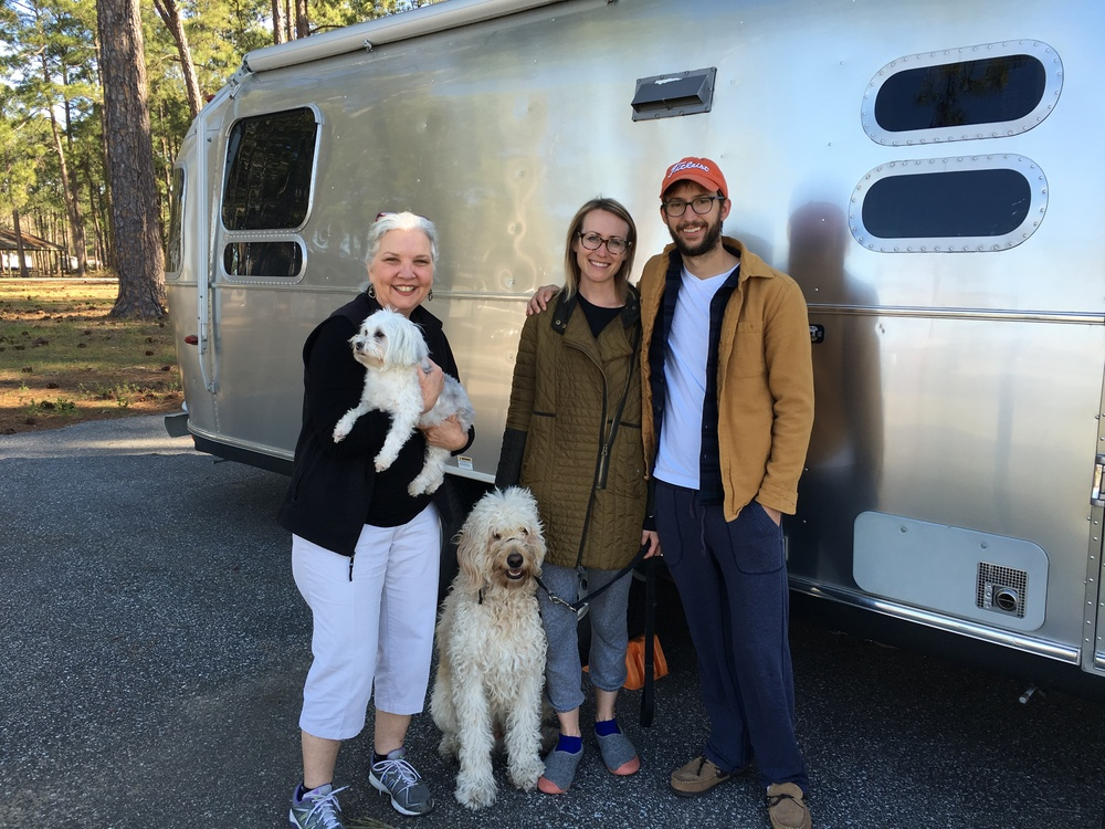 "Opal and Harvey (who is taking the picture!) were among our first ""road friends."" And they fed us amazing cheese! Missing these two!"