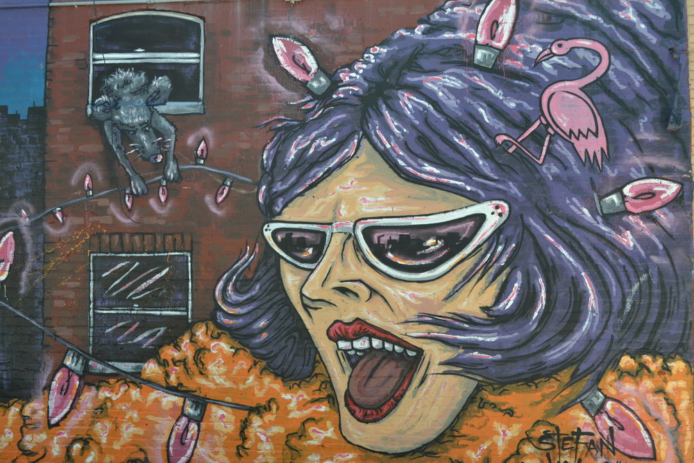 A mural found in the Hampden neighborhood.
