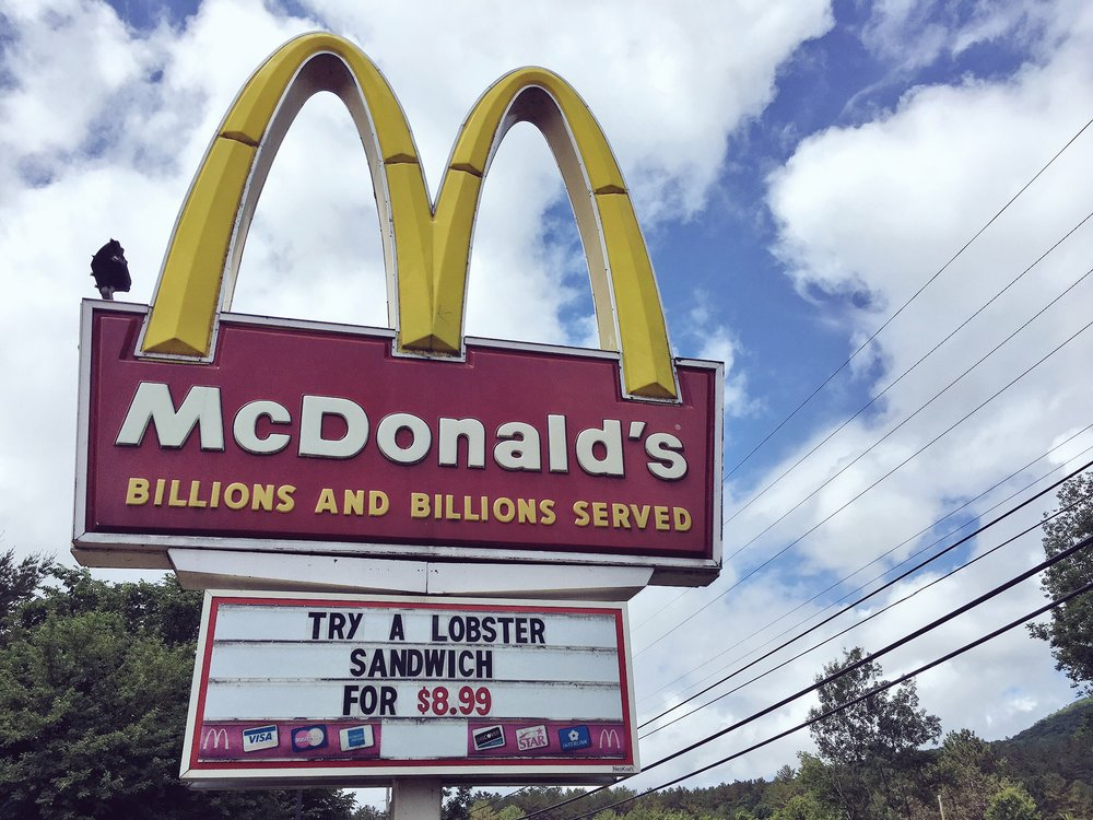 Saw this right away when we rolled into Maine. Even McDonald's will serve you lobster.
