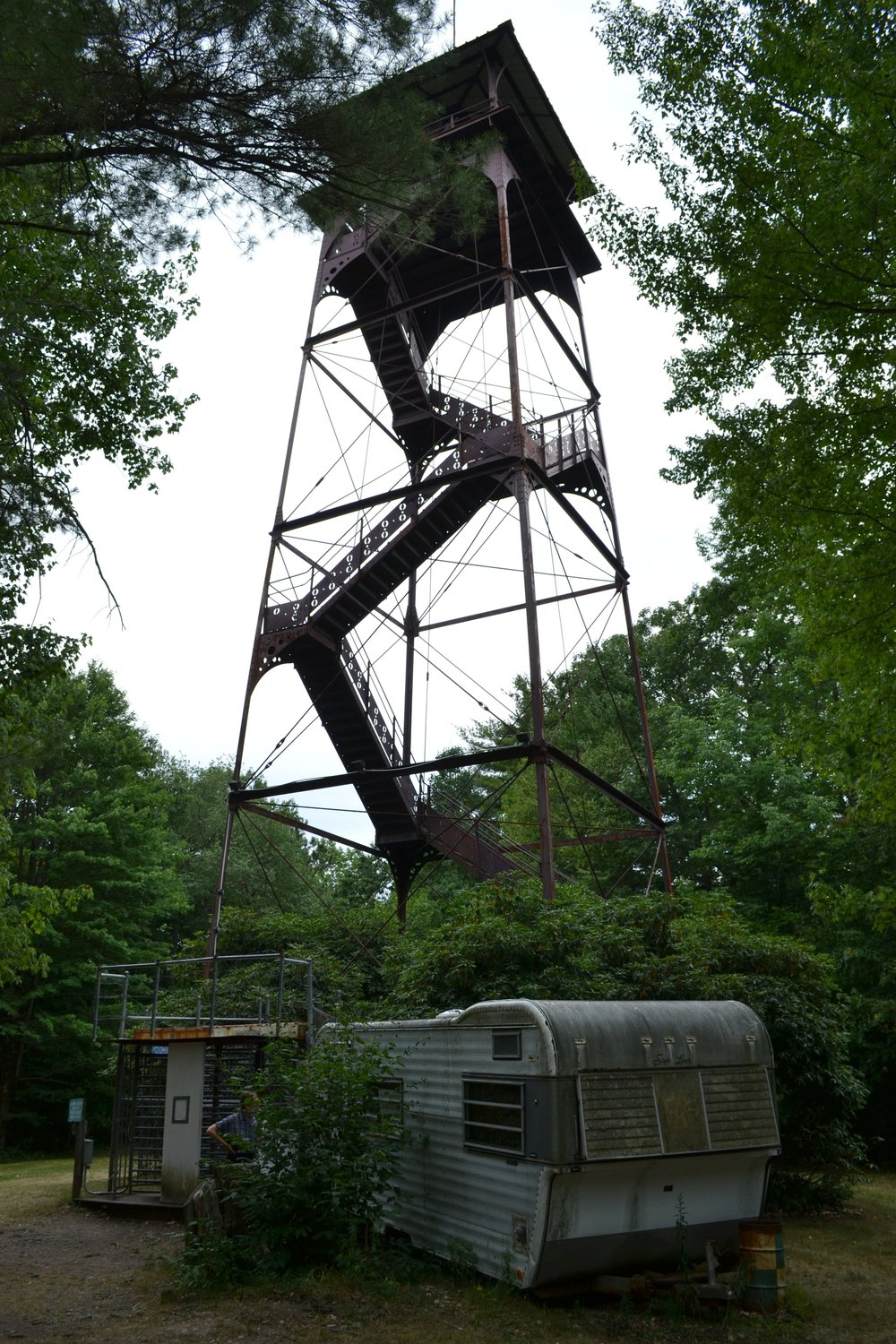 I can honestly say this is the first privately-owned fire tower I ever paid $2 to climb.