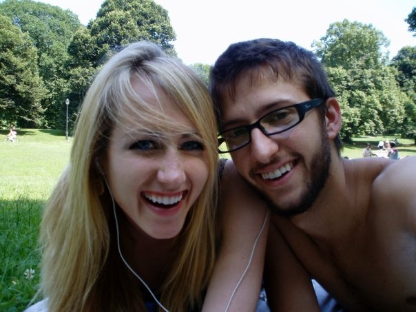 Carson and I in Prospect Park, summer of 2008(!)