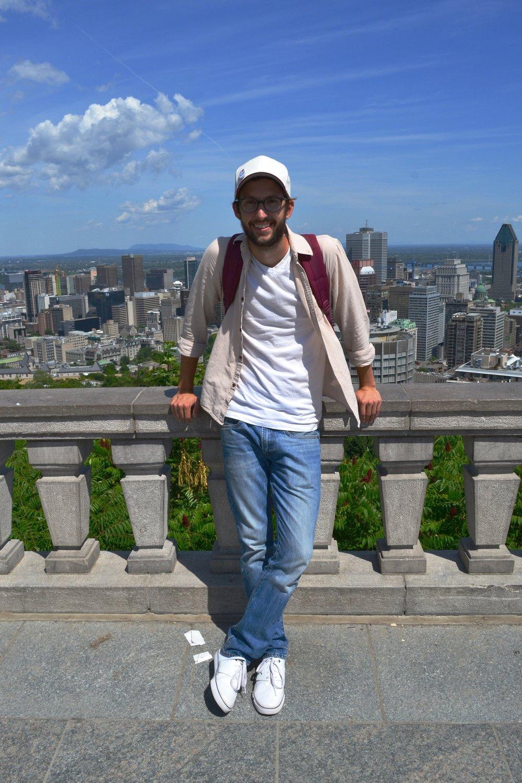 Carson atop Mont Royal.