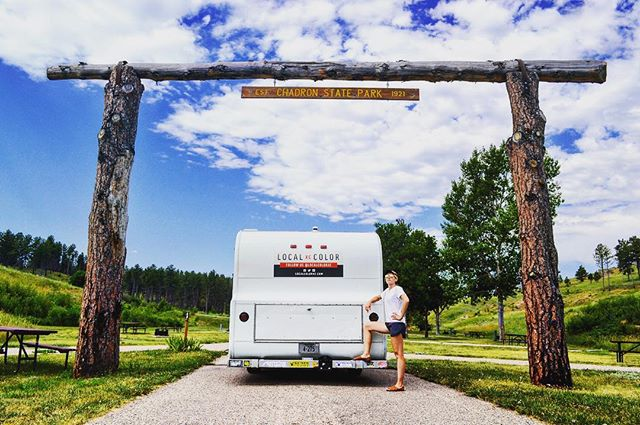 Another throwback to our 4th of July mini-vacation at Chadron State Park, the first State Park in Nebraska. We stopped for a quick pic beneath the sign before heading out.
