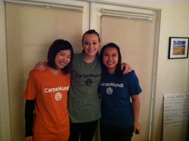 Mana modeling our new t shirts with Amanda and Lilly.