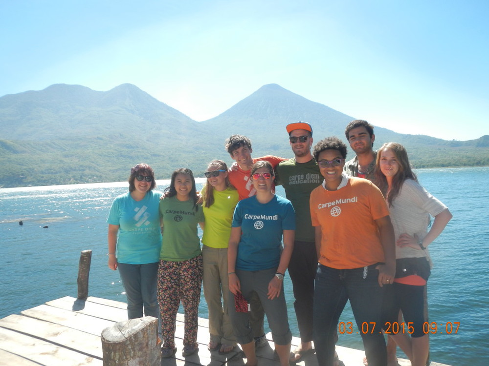 Our group on the beautiful Lake Atitlan