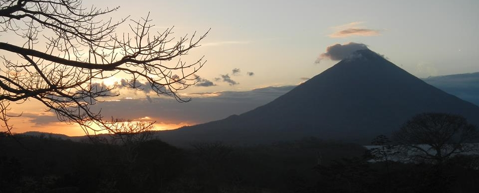 The view from Ometepe Island, in the middle of Lake Nicaragua