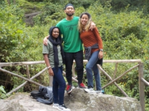 Hamdi, Meno, and Brenda in Peru
