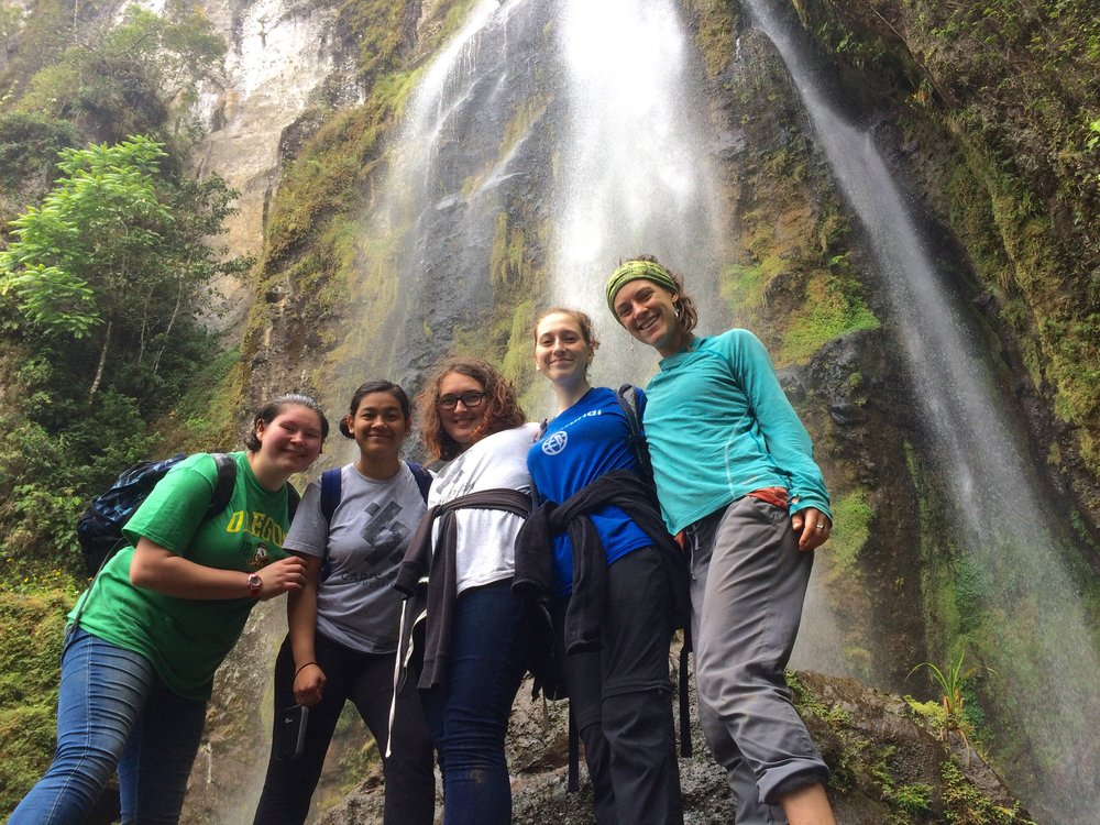 A hike to the towering Rainbow Waterfall led by our friend Jorge and the legendary Don Chico.