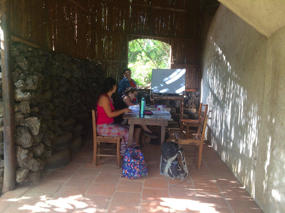 Open air Spanish class classrooms!