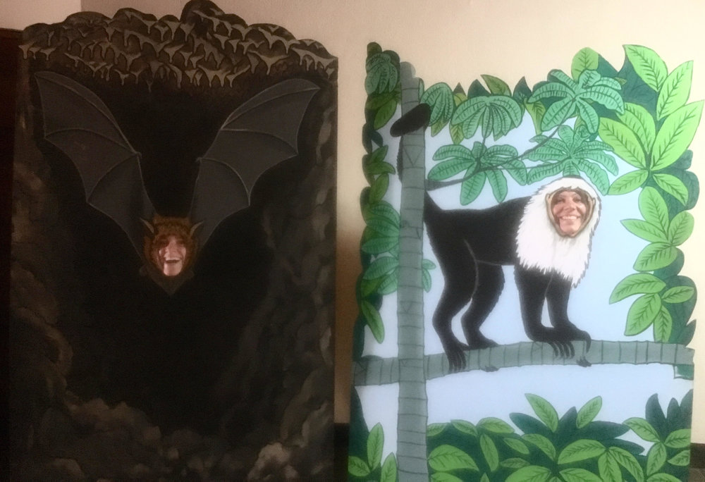 Kate the bat and Suzannah the monkey!