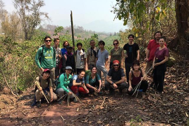 Sabai group and other permaculture participants at Sahainan Organic farm.