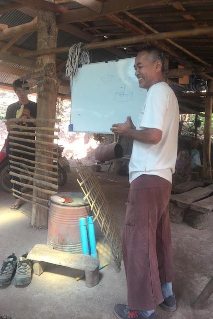 Sandot, the Sahainan Organic Farm founder, teaching about permaculture.
