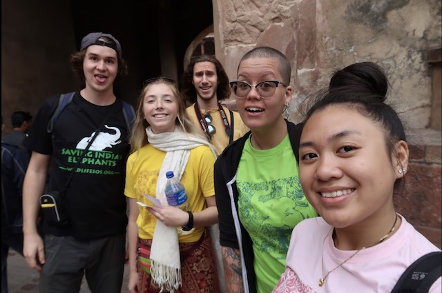 Selfies at the Red Fort.