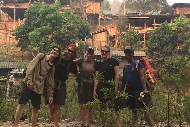 Trekking through Karen and Lahu hill tribe villages.