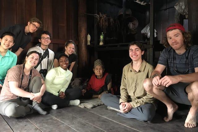 The Sabai group with their village host.