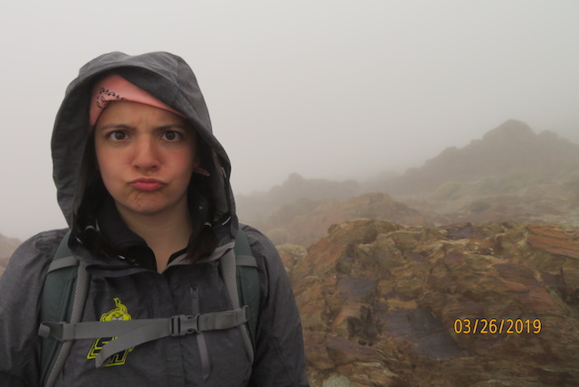 Kayla in the Atlas Mountains showing off her famous poker face.
