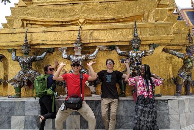 At the Grand Palace in Bangkok.