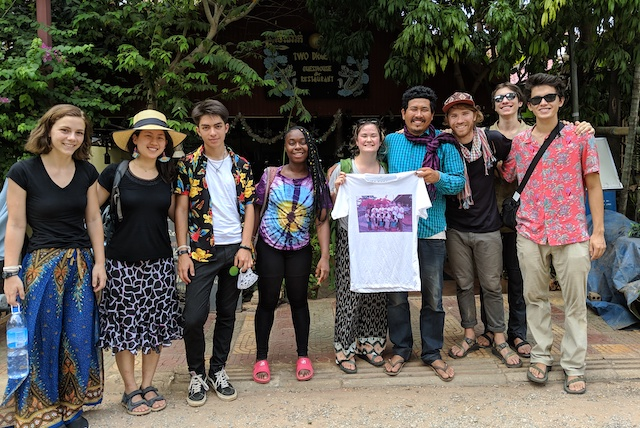 With out tuktuk driver, Hongda, and the shirt we made for him as a thank you in Siem Reap.