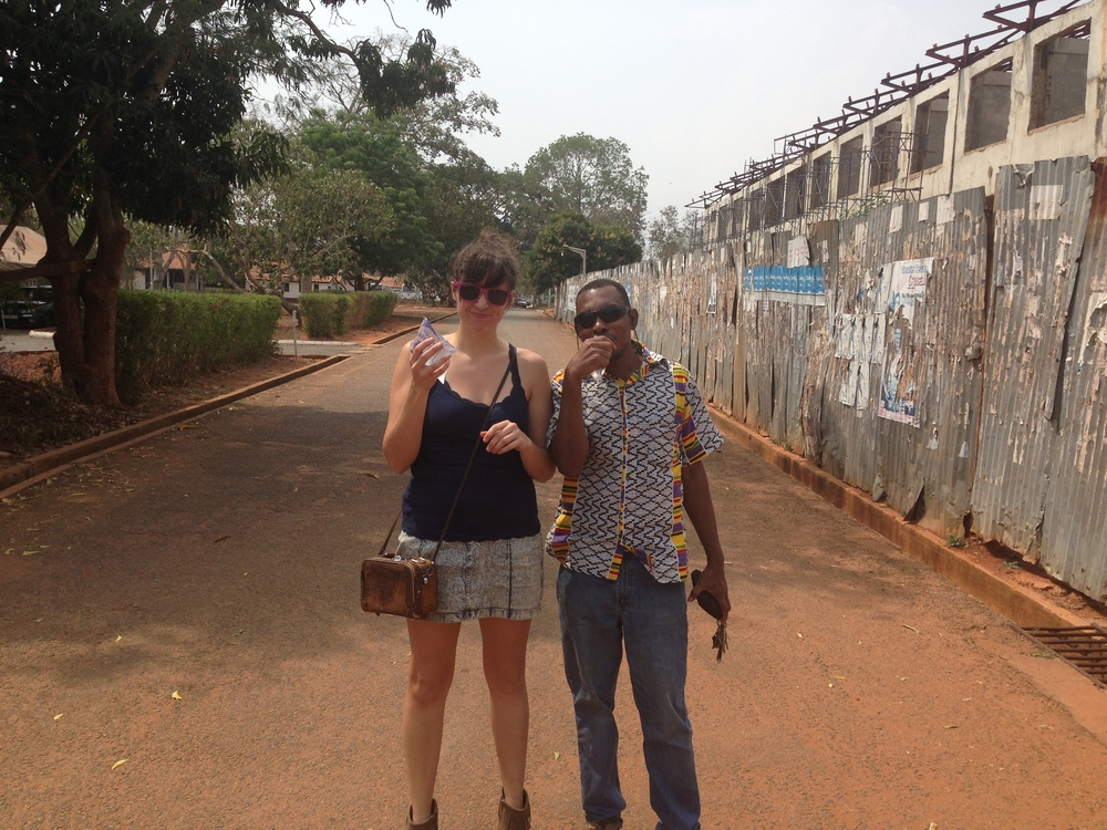 Kearney and Bebe at The University of Ghana
