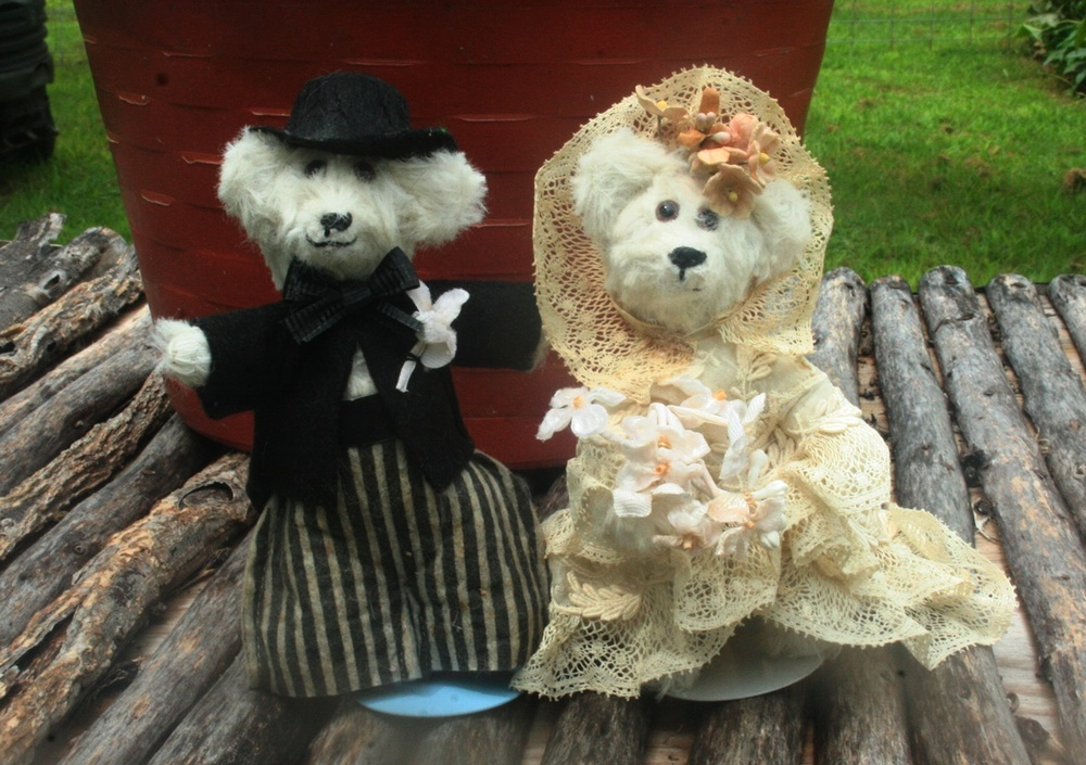 tiny little teddy bear wedding