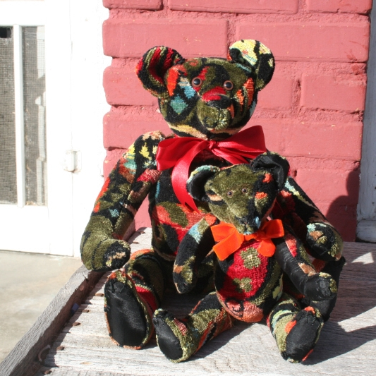 Stearnsy Bears made from a vintage vest