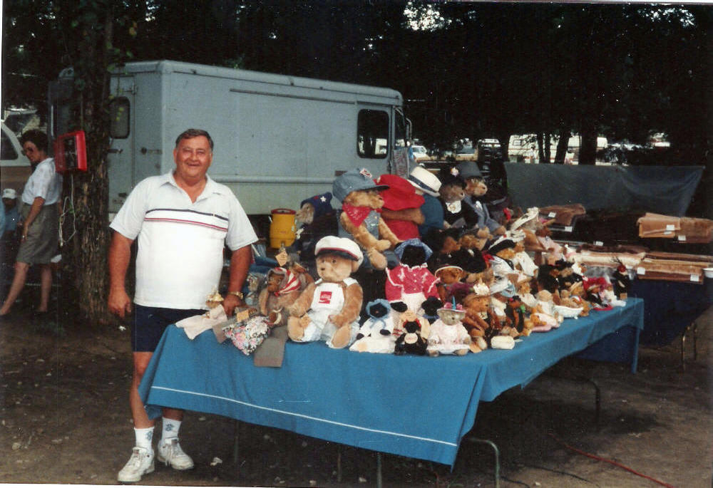 Jim and the bears in Canton, TX.