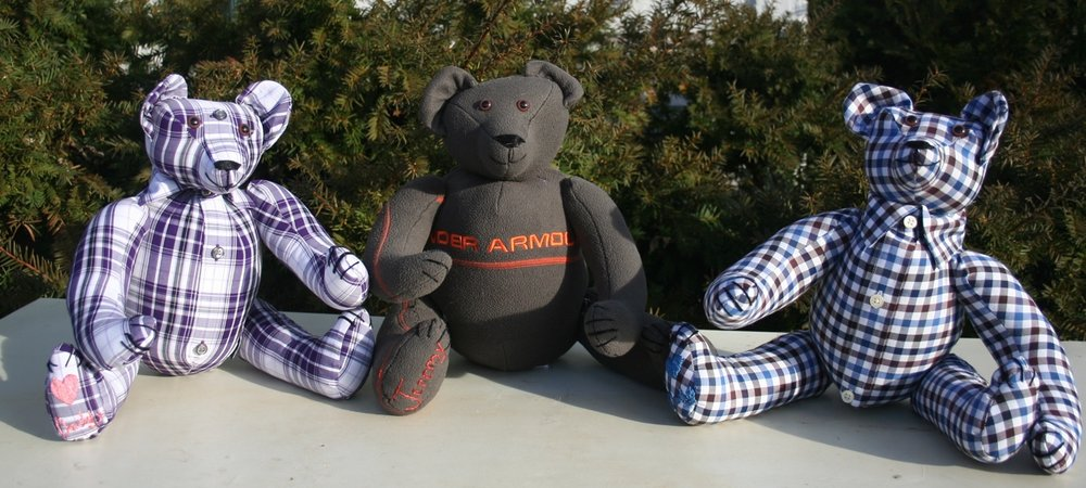 Three bear order from vintage shirts for Cindy. 2017. 10 pictures