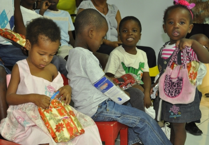 Every child was given a gift for Christmas.