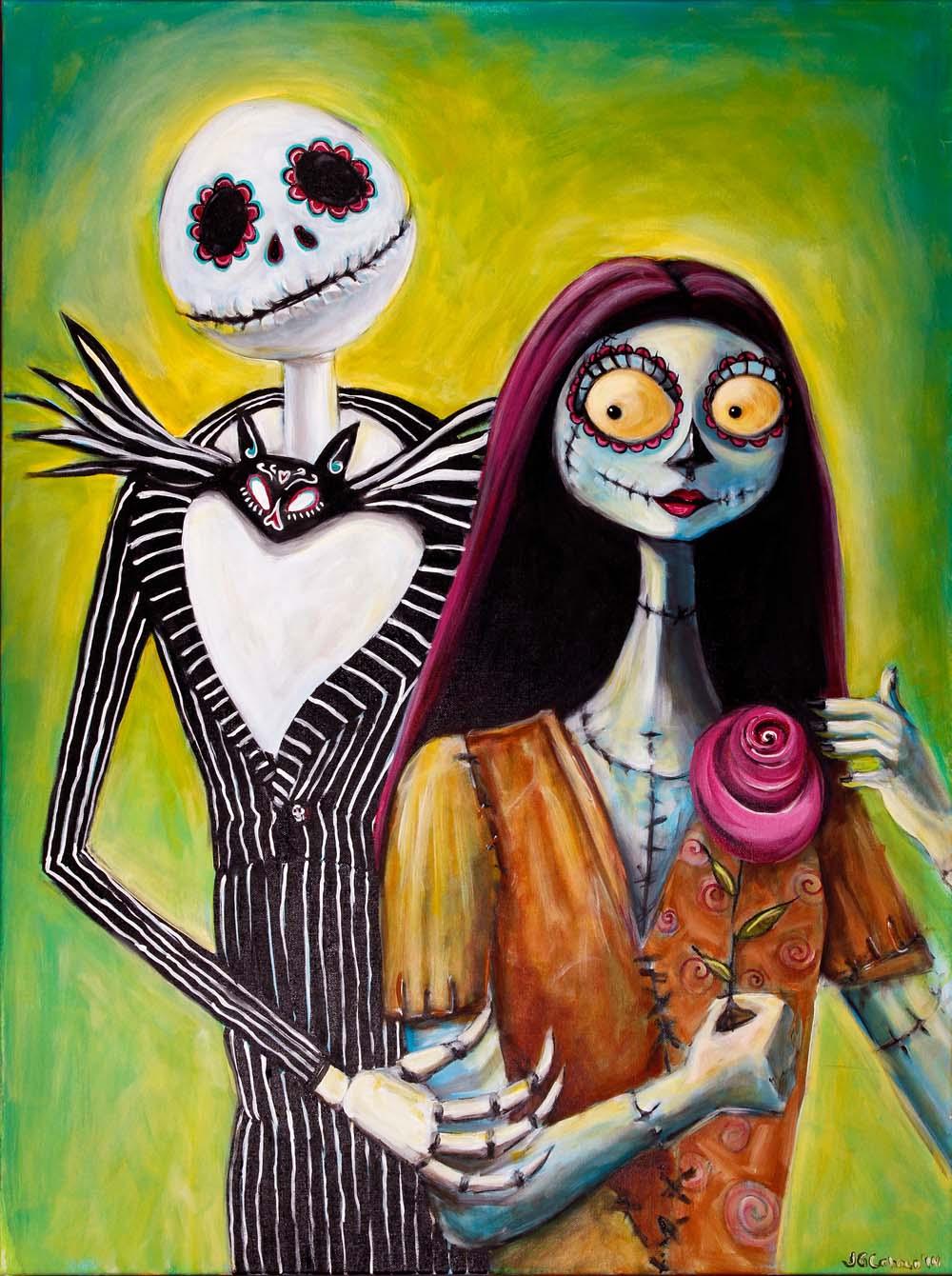 Jack and Sally, Dia de Los Muertos
