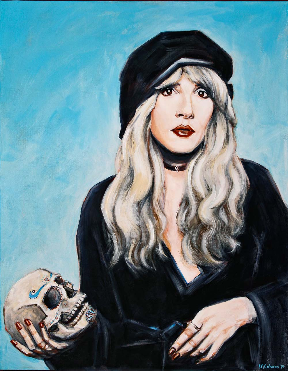 Stevie Nicks with Sugar Skull