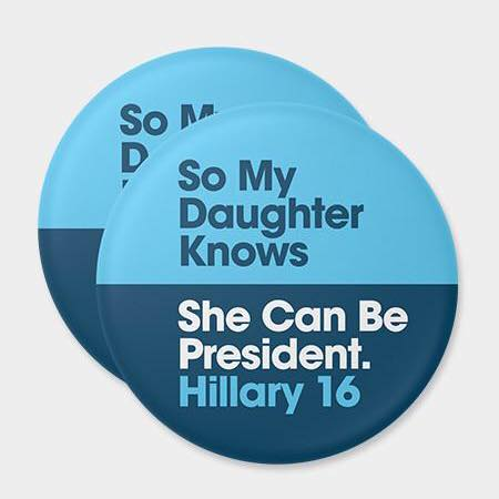 I bought this pin from Hillary's website shortly before my daughter's birth.