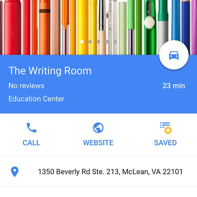 It's official -- The Writing Room is on Google Maps!