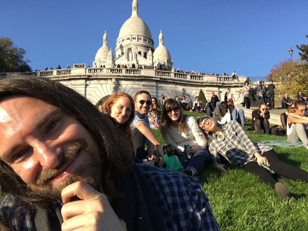 Picnic at sacre-coeur, because with autumn weather like this, who needs the indoors?