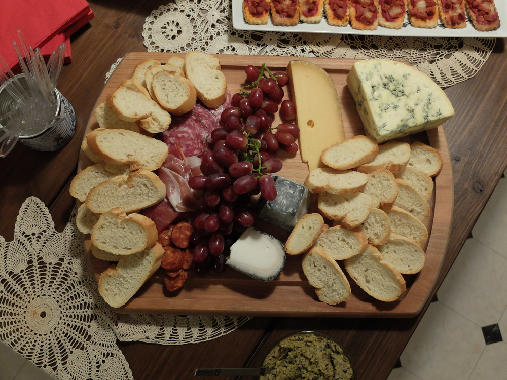 Instead of cake, here's a picture of the prettiest cheese plate I've ever made!