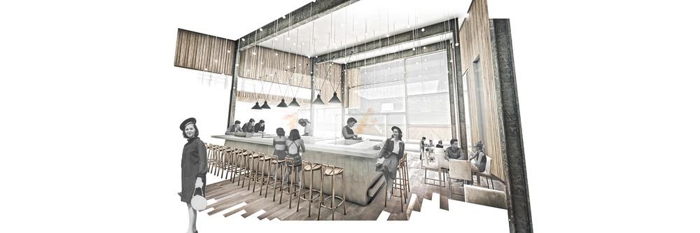 perspective: restaurant interior