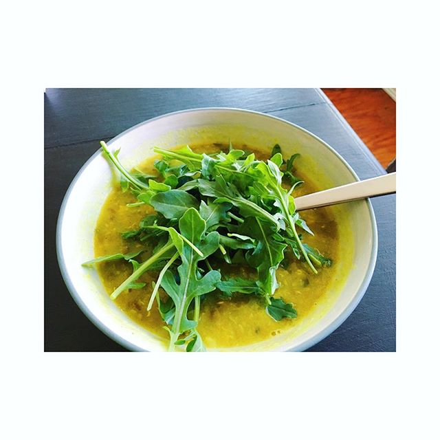 I was recently diagnosed with Candida overgrowth. I've been working on it for six months or so, gradually incorporating new healing foods, eliminating foods that were not serving me. This here is a recipe from my Every Day Ayurveda Book, Detox Dal Soup, for removing toxins from the body. And topped with arugula...delicious! I also just ordered a really great plant-based probiotic as well as a biofilm disruptor to break down the fungal and bacterial biofilms. This will allow the other herbs and supplements I'm taking, as well as my immune system, to work effectively against the Candida. Candida is no joke. I found out I had Candida overgrowth the hard way...about six months ago I basically became unable to eat food. I was down to bananas, and sautéed onions, spinach and garlic for almost every meal. I felt nauseous and full most of the time. Bowel movements were very irregular, uncomfortable, and unpredictable. I was really suffering. Thankfully I found Ayurveda and began eating for my constitution. Then I found colon hydrotherapy. Now, onto the Candida battle. It's a long road. My most recent struggle came after my wine tasting trip a couple weeks ago. Thankfully it didn't trigger me to the point where I couldn't eat, but it triggered me enough to help me realize how far I've come AND how far I still have to go. I've got this. I know I'm on the right track. I know I'm healing. I know I'll get my life back 💜 #healing #healingonedayatatime #eachstepisalesson #alwayslearning #itsthejourney #selfcare #holistichealing #selflove