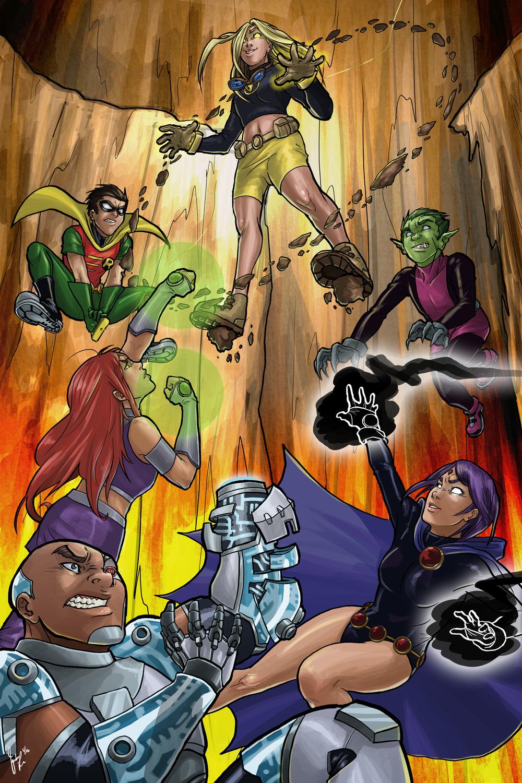 Teen Titans - Terra (DC Comics, Fanart)