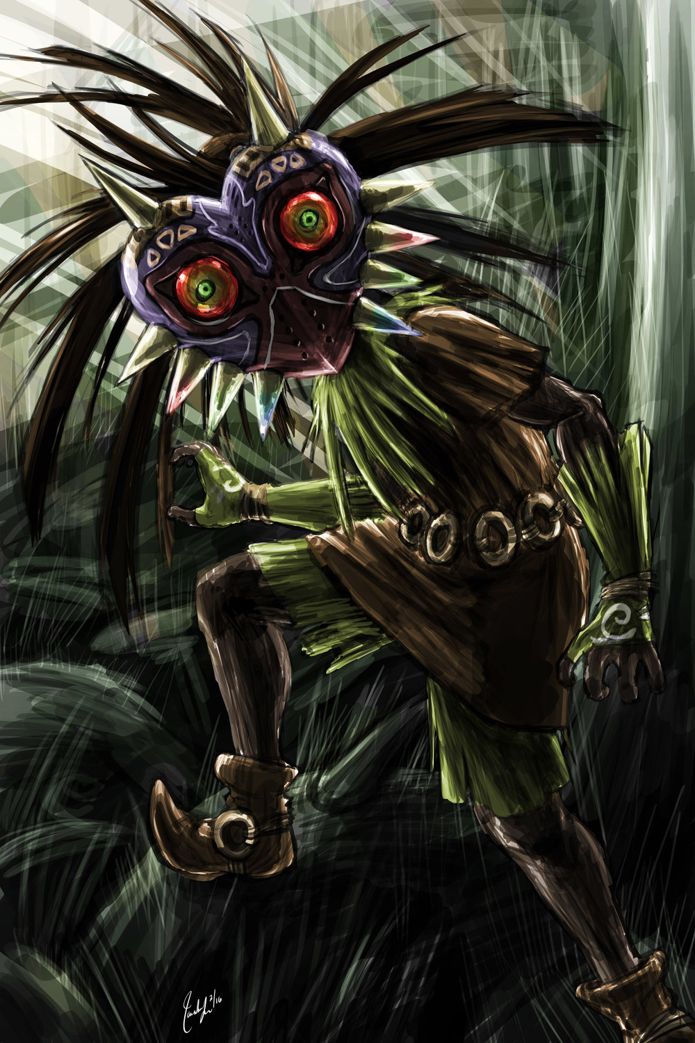 Majora's Mask Skull Kid (commission)
