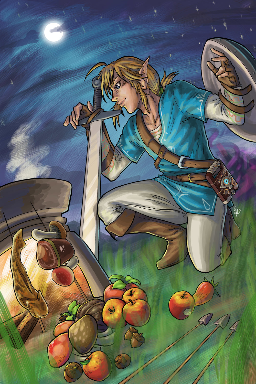 The Legend of Zelda - Campfire (Fanart)