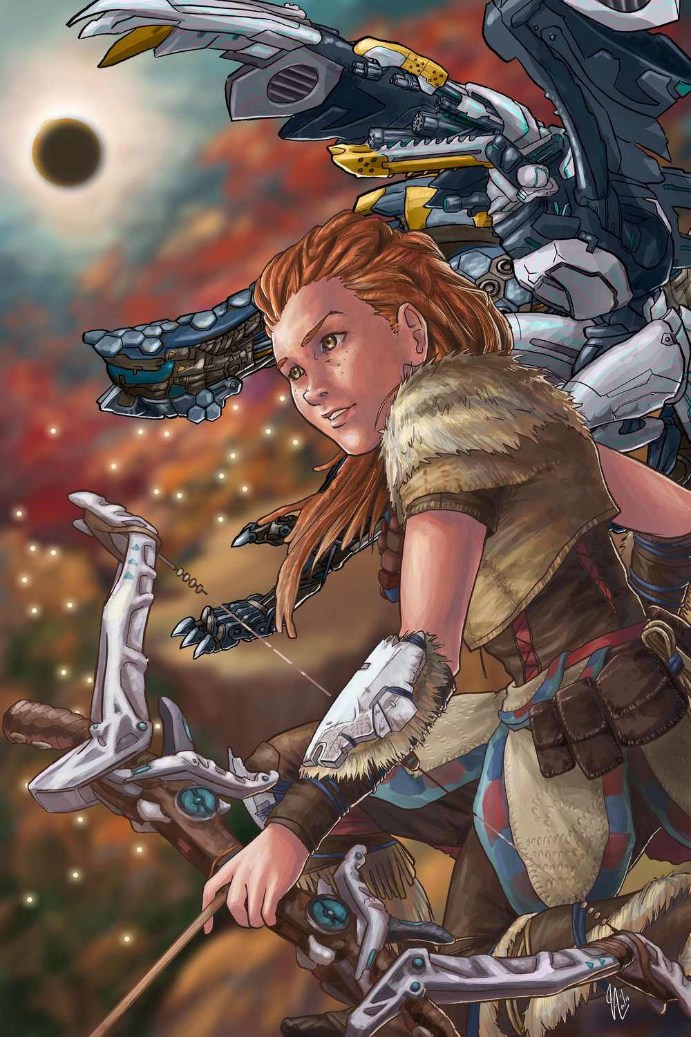 Horizon Zero Dawn - Eclipse (fanart)
