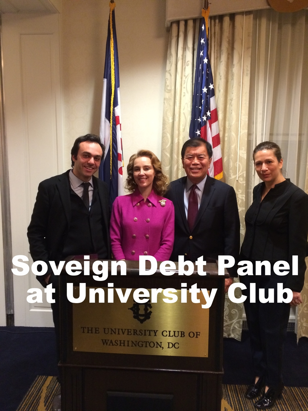 David Wu with the Sovereign Debt Panel at University Club