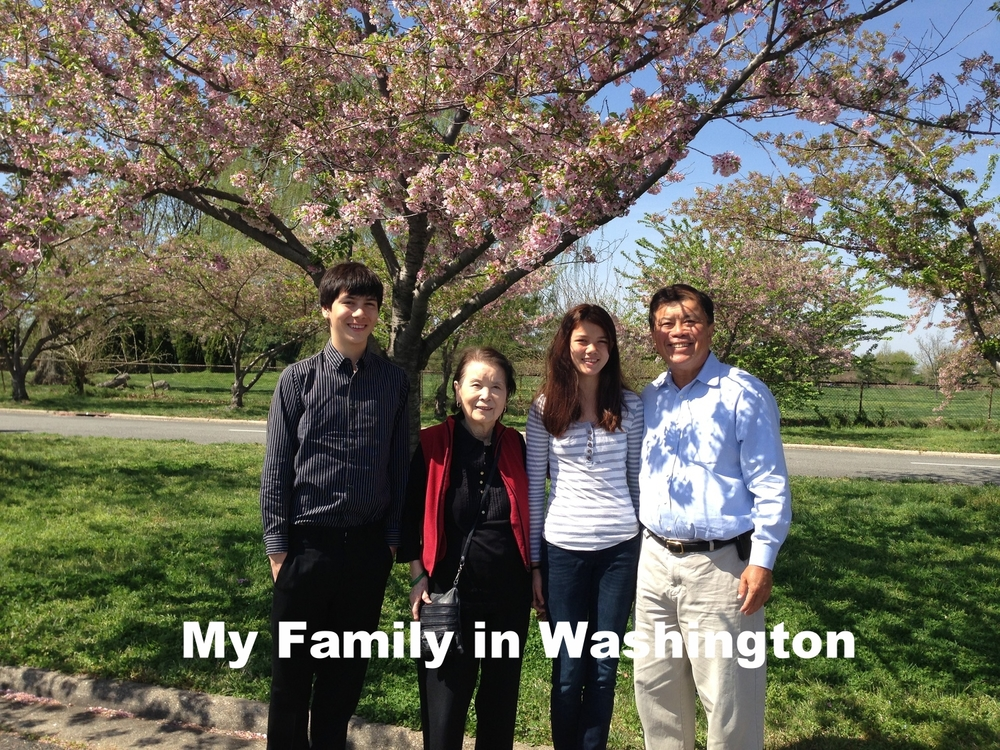 David Wu with his family in Washington