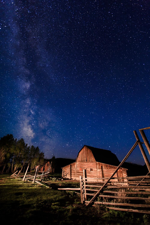 Milky Way over the Corral Barn by Steve Leath