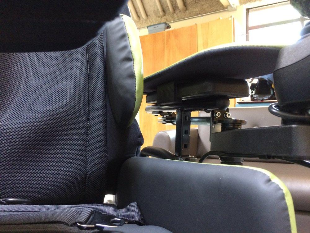 3d printed ABS armrest sliders