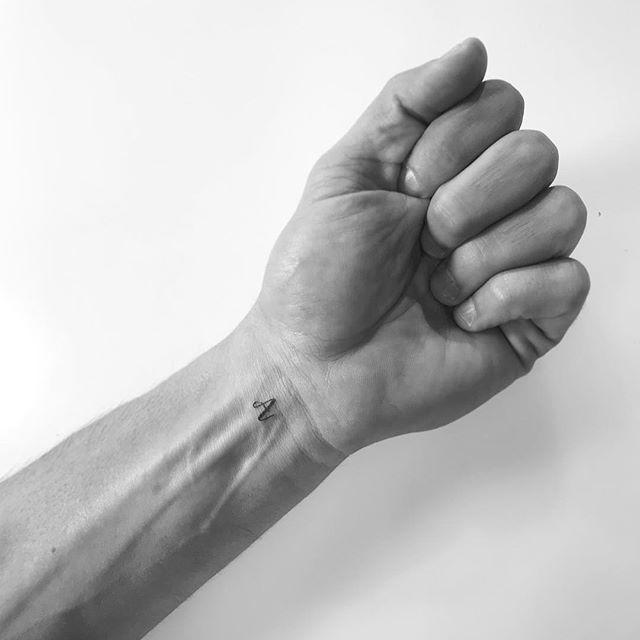 • A •  #wristtattoo #smalltattoo #liltattoo #littletattoo #tinytat #lettertattoo #letteratattoo
