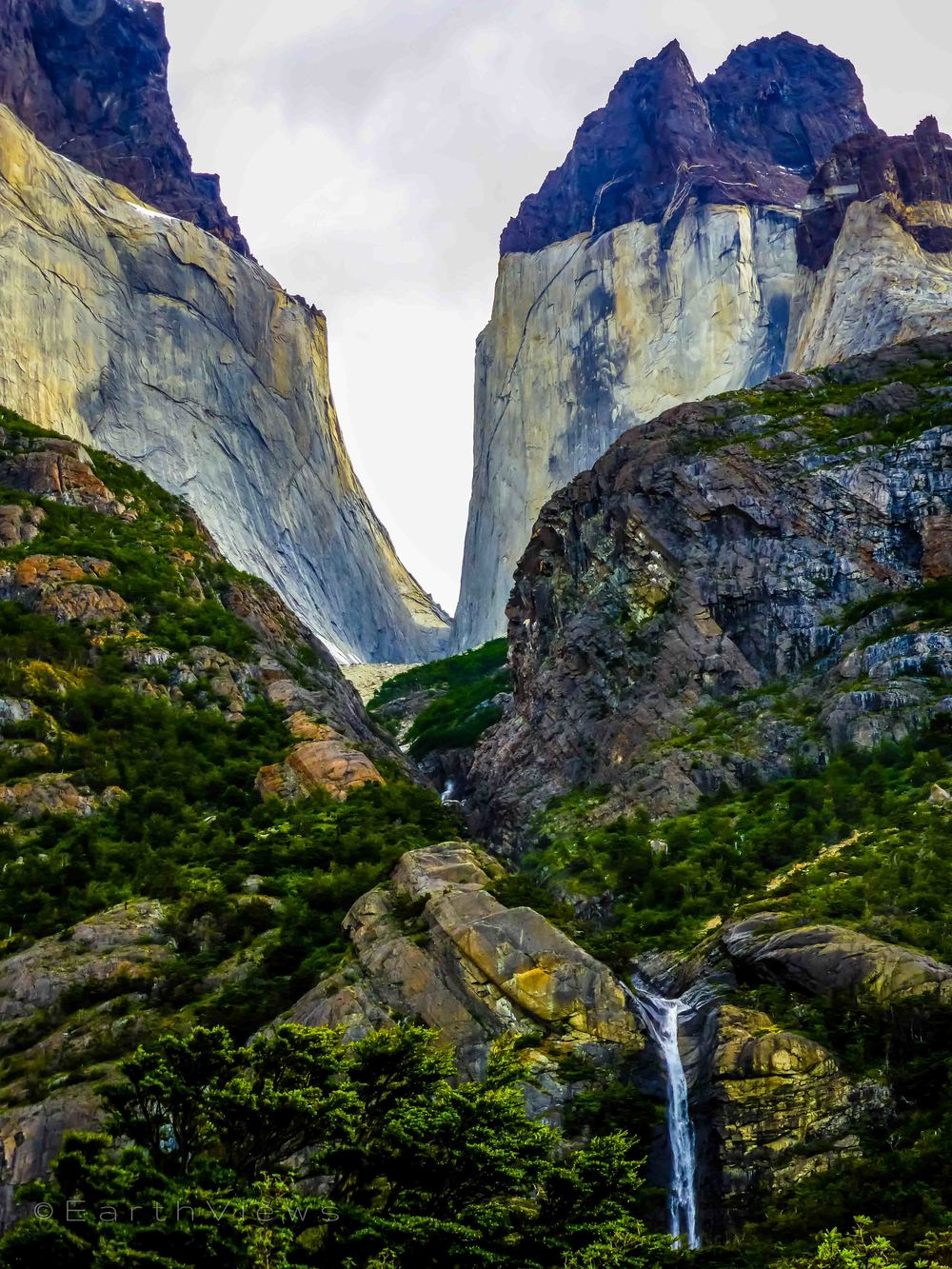 Patagonian waterfall