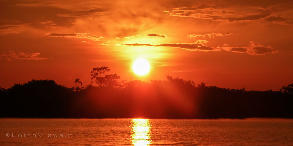 A sunset in the Amazon