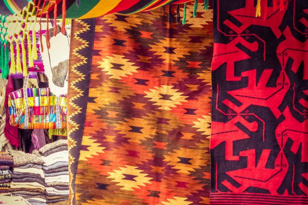 Rugs on the Otavalo market