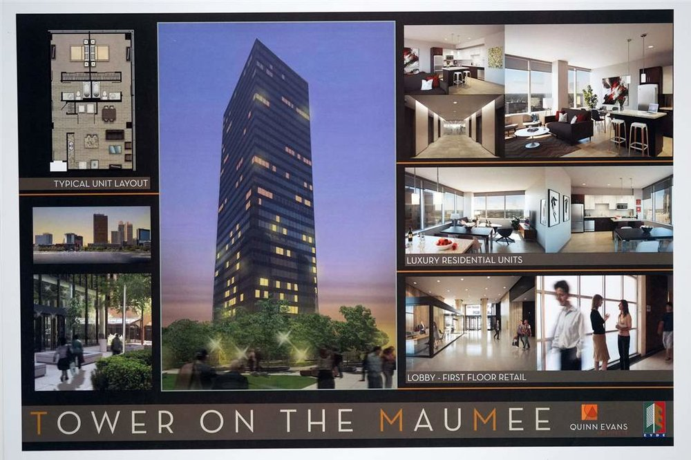 Photographic Renderings of Tower On The Maumee - 200 N. St. Clair St, Toledo, OH 43604